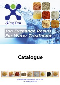 Softening water resin